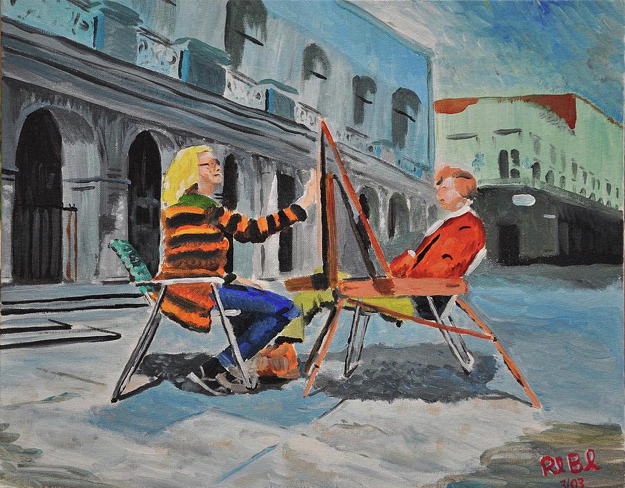 Artist Painting - Art Viewing Art by Ruben Barbosa