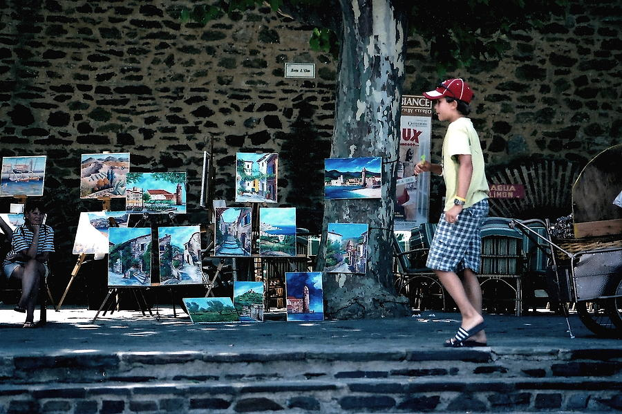 France Photograph - Art Walk by Carrie Warlaumont