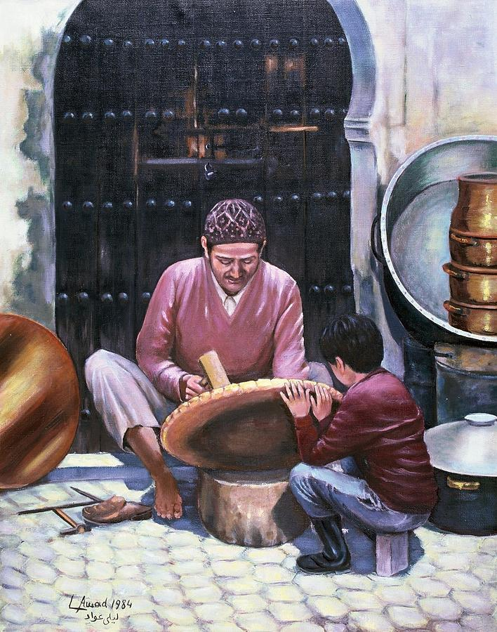 Figures Painting - Art Work by Laila Awad Jamaleldin