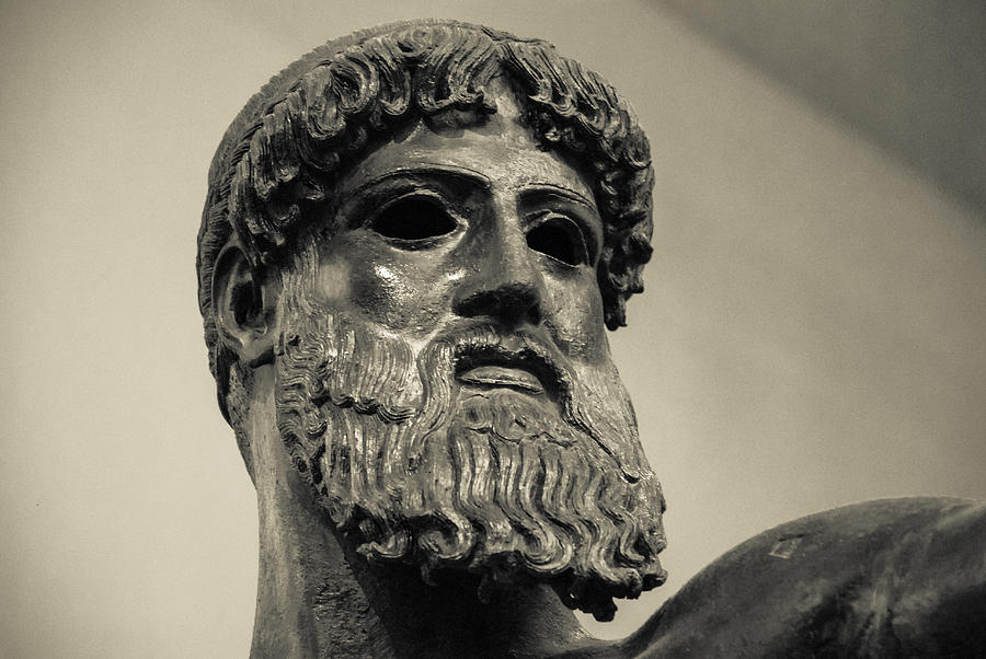 Zeus Photograph - Artemision Zeus by David Waldo
