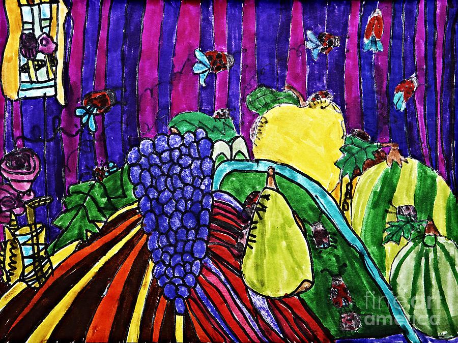 Fruit Drawing - Arthropod Intrusion by Stephanie Ward