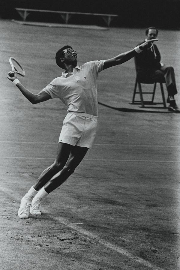 Arthur Ashe Playing Tennis Photograph by Jack Robinson