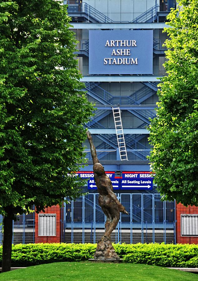 Sports Photograph - Arthur Ashe Stadium by Mike Martin