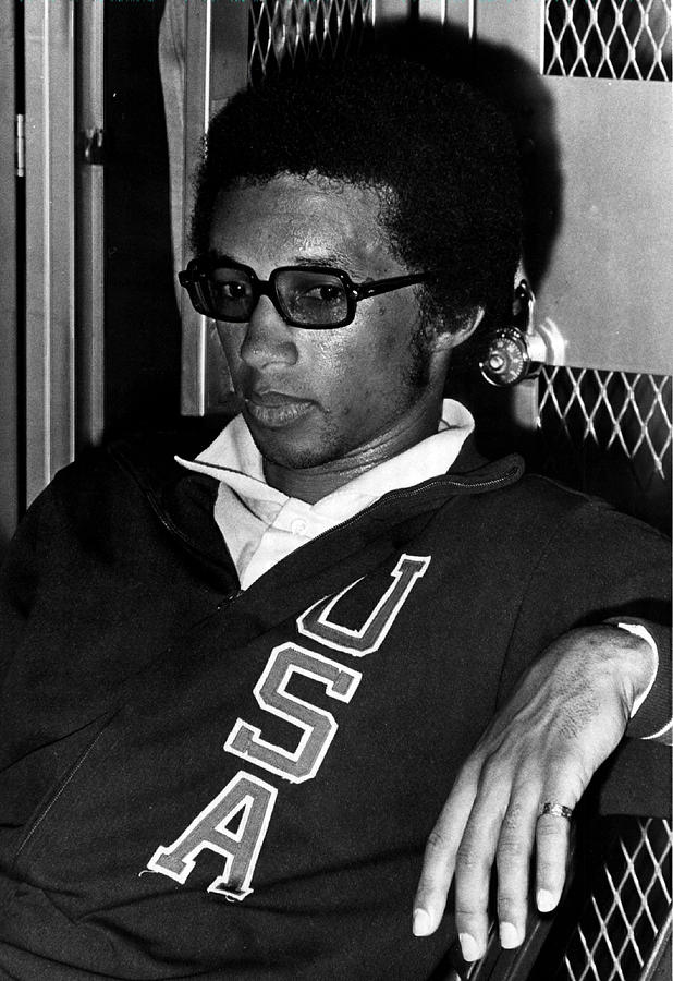 Retro Images Archive Photograph - Arthur Ashe With Sunglasses by Retro Images Archive