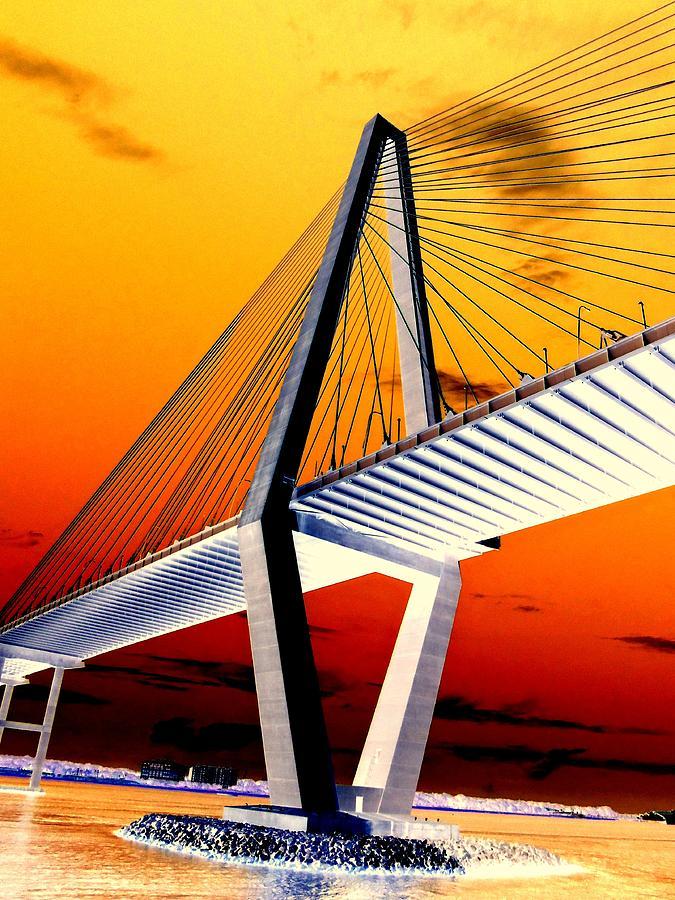 Charleston Photograph - Arthur Ravenel Bridge 18 by Ron Kandt