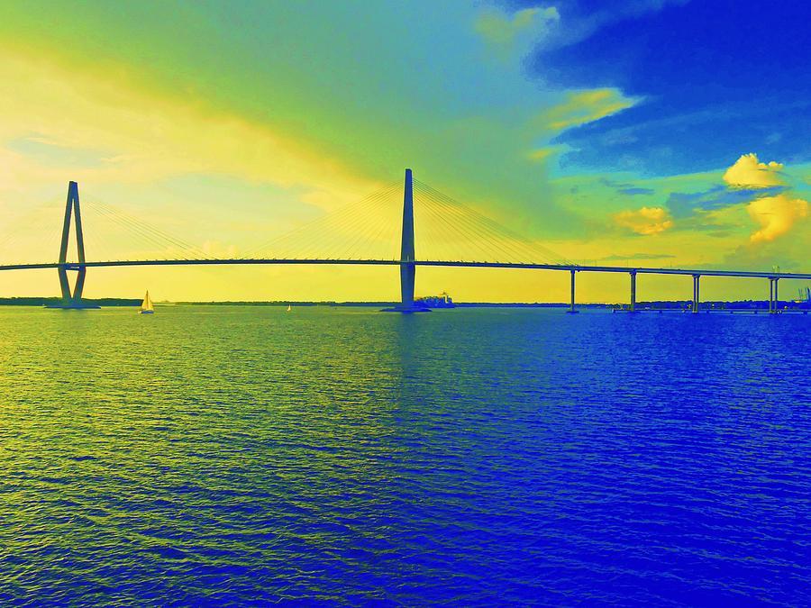 Charleston Photograph - Arthur Ravenel Bridge 19 by Ron Kandt