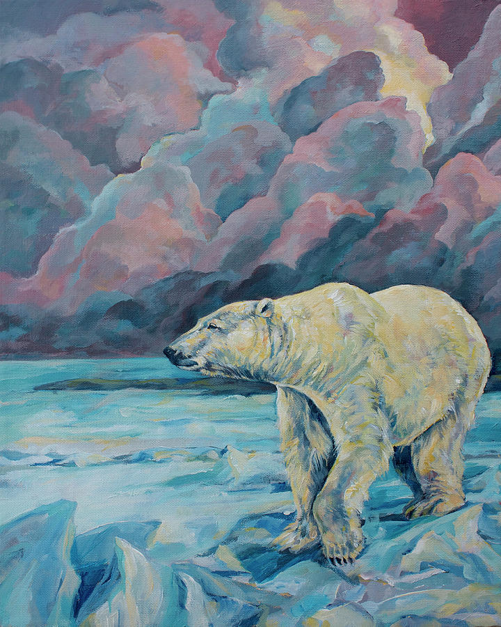 Wildlife Painting - Artic Wanderer by Derrick Higgins