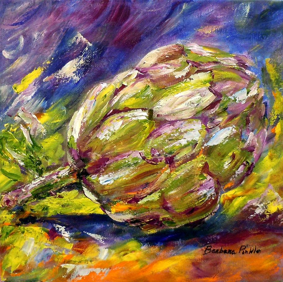 Artichoke Painting - Artichoke by Barbara Pirkle