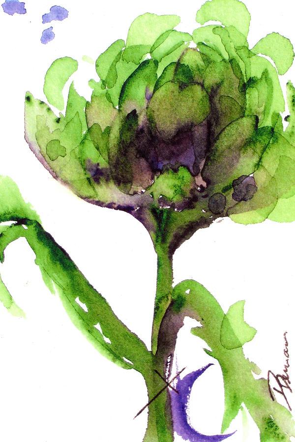 Artichoke Painting - Artichoke by Dawn Derman