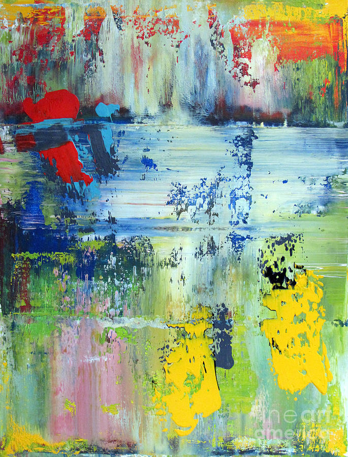 Abstraction Painting - Artifact 25 by Charlie Spear