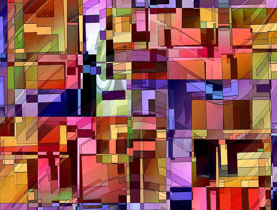 Abstract Digital Art - Artificial Boundaries by Ginny Schmidt