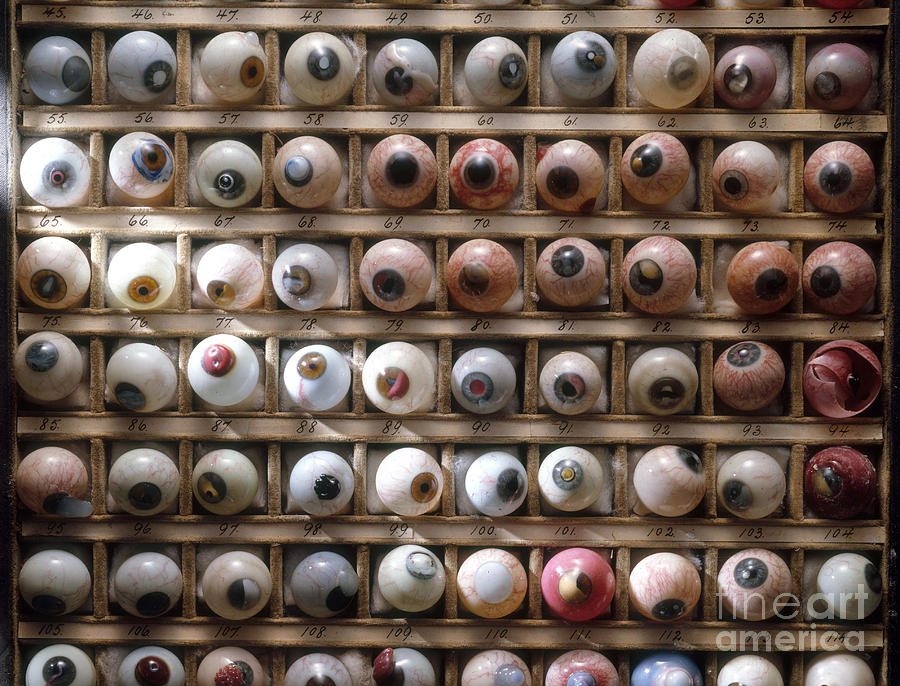Medical Photograph - Artificial Eyes  Disorders by Brooks Brown