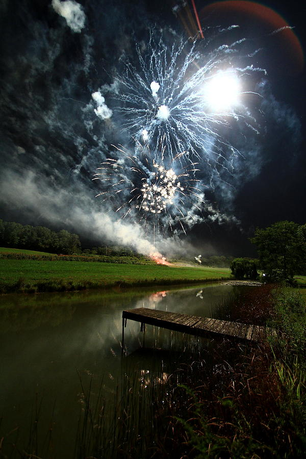 Firework Photograph - Artificial Illumination by Cody Arnold