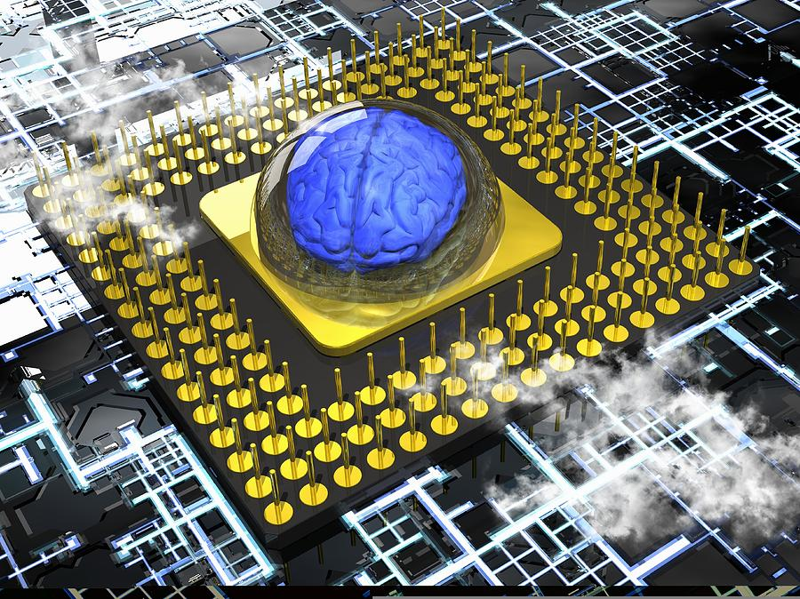 A I Photograph - Artificial Intelligence, Conceptual by Science Photo Library
