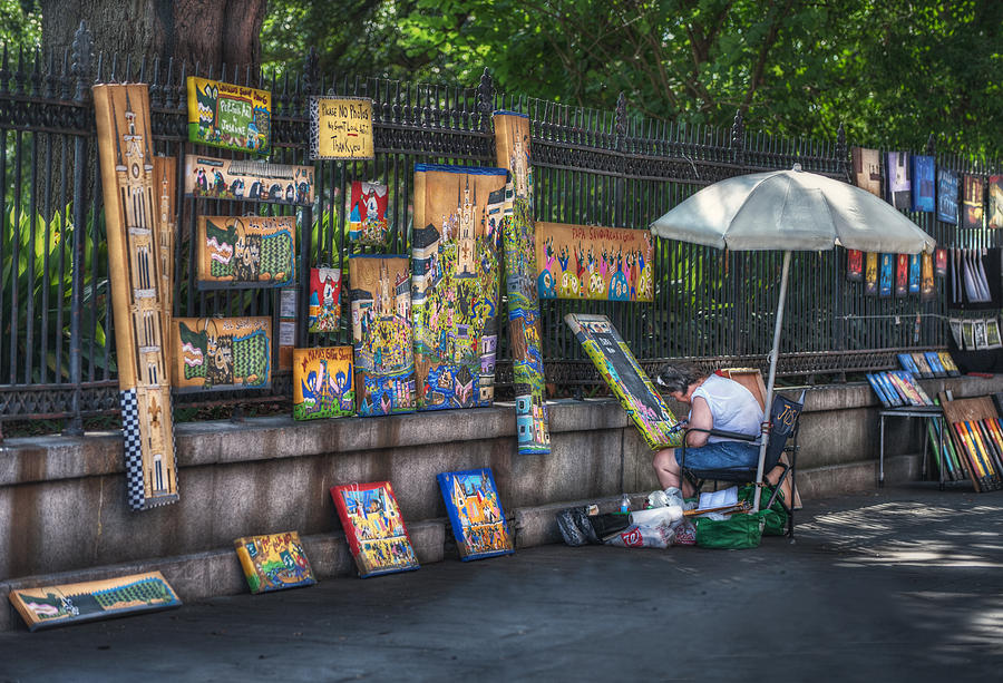 Jackson Square Photograph - Artist At Work by Brenda Bryant