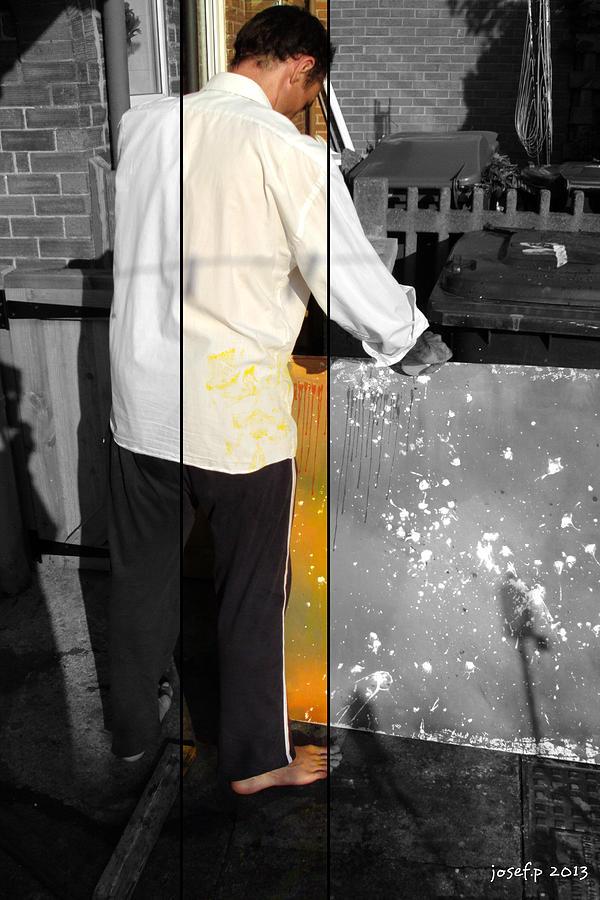 Selfportrait Photograph - Artist At Work Part Two by Sir Josef - Social Critic -  Maha Art