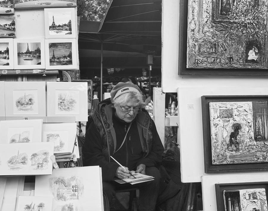 Artist Photograph - Artist Montmartre by Hugh Smith