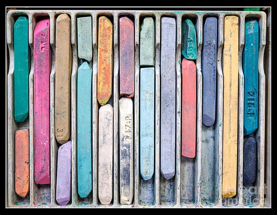 Colors Photograph - Artists Chalks by Edward Fielding