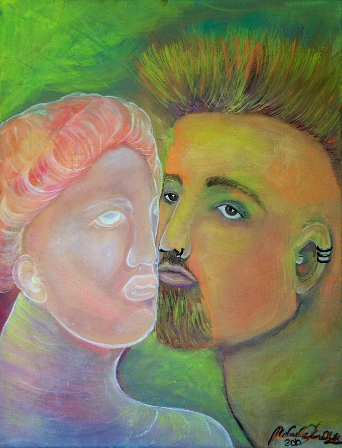 Figurative Painting - Artists Muse by Michaela Kraemer
