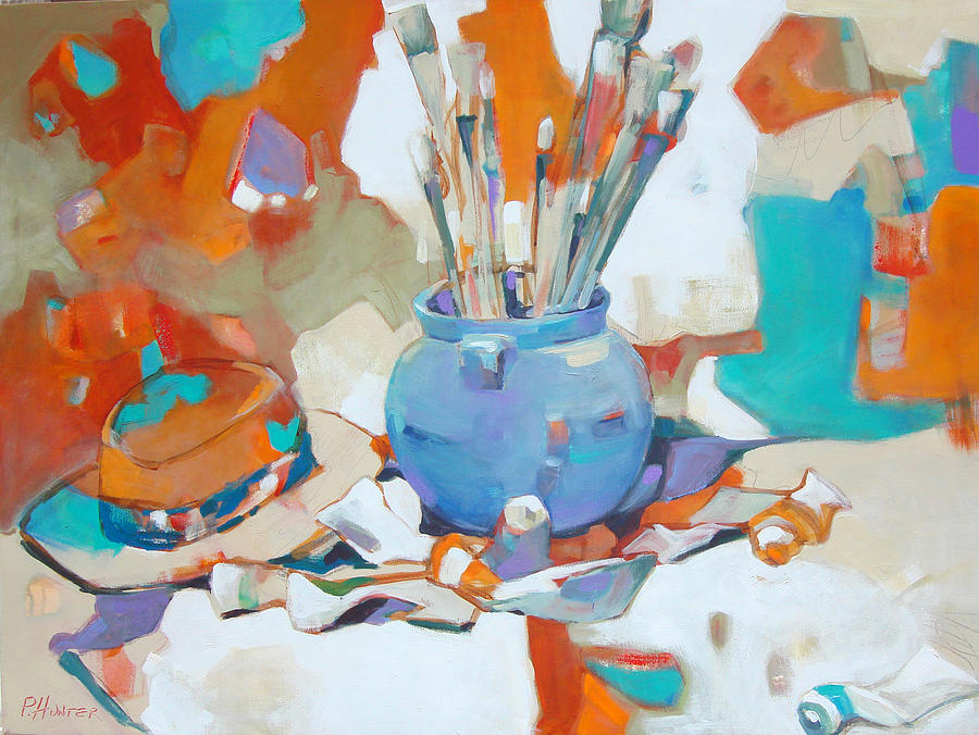 Bright Painting - Artists Studio by Patton Hunter