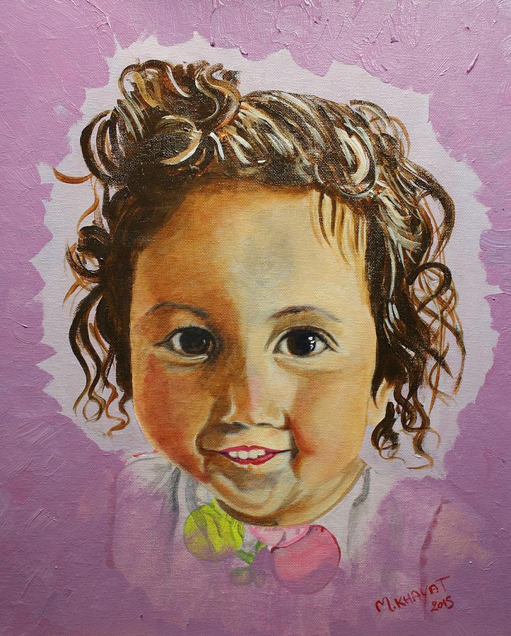Kid Painting - Artists Youngest Daughter by Marwan  Khayat