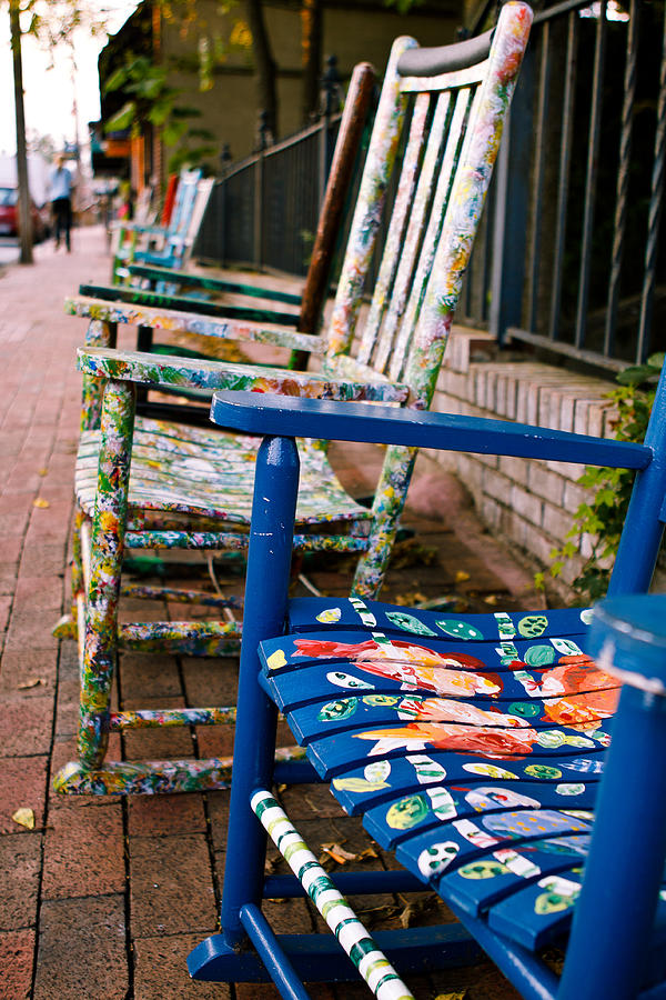 Adventure Photograph Artsy Rocking Chairs In Black Mountain Nc By Mela Luna