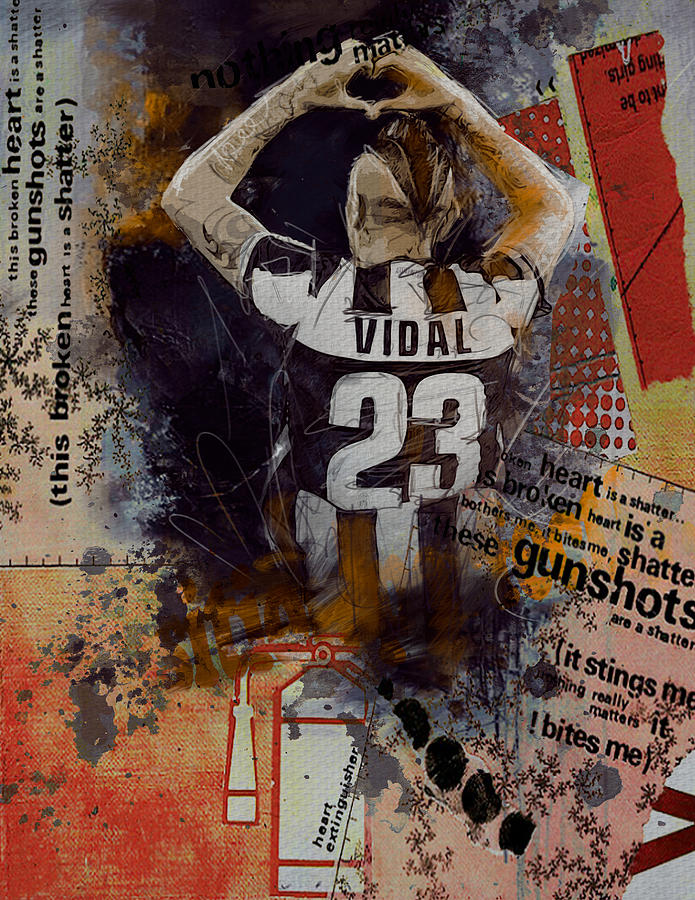 Arturo Vidal Painting - Arturo Vidal - C by Corporate Art Task Force