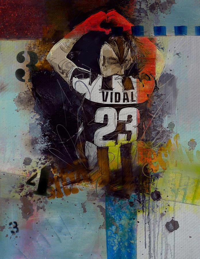 Arturo Vidal Painting - Arturo Vidal - D by Corporate Art Task Force