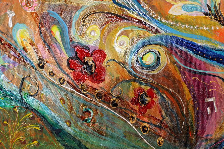 Jewish Art Prints Painting - Artwork Fragment 10 by Elena Kotliarker