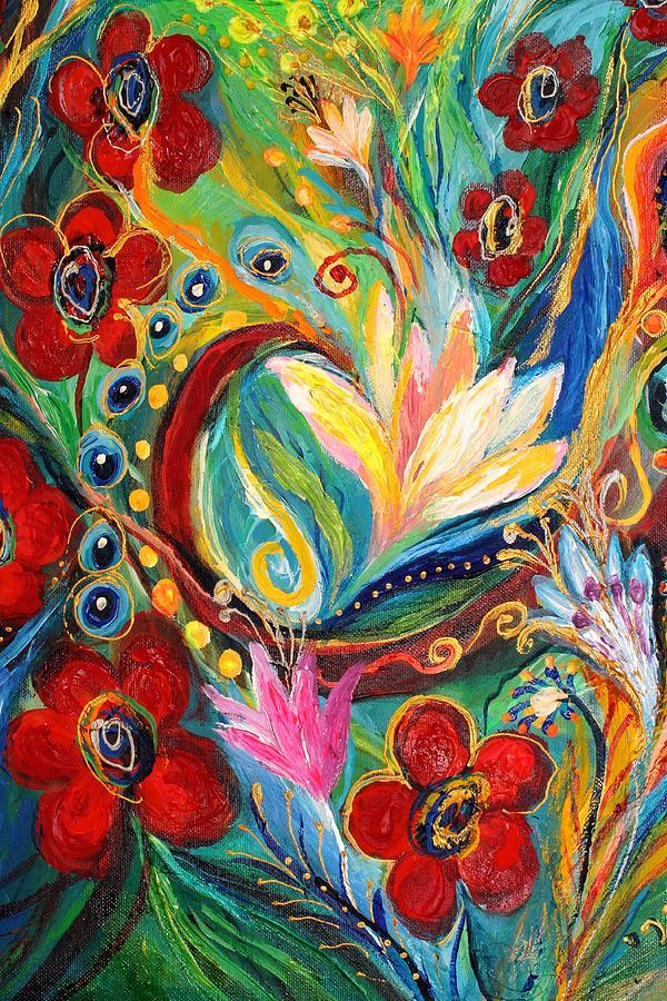 Jewish Art Prints Painting - Artwork Fragment 26 by Elena Kotliarker