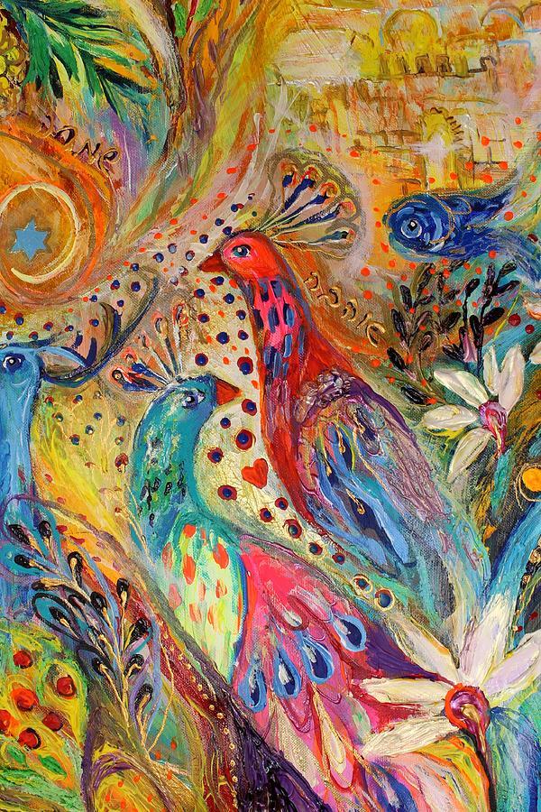 Jewish Art Prints Painting - Artwork Fragment 34 by Elena Kotliarker