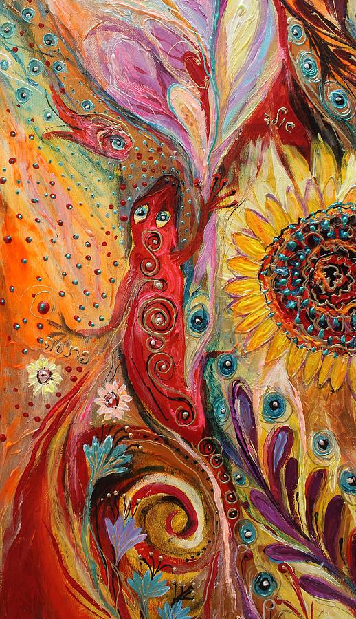 Jewish Art Prints Painting - Artwork Fragment 59 by Elena Kotliarker
