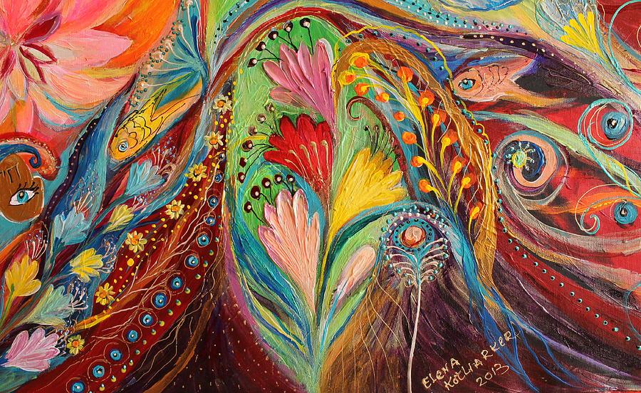 Artwork Fragment 64 Painting by Elena Kotliarker