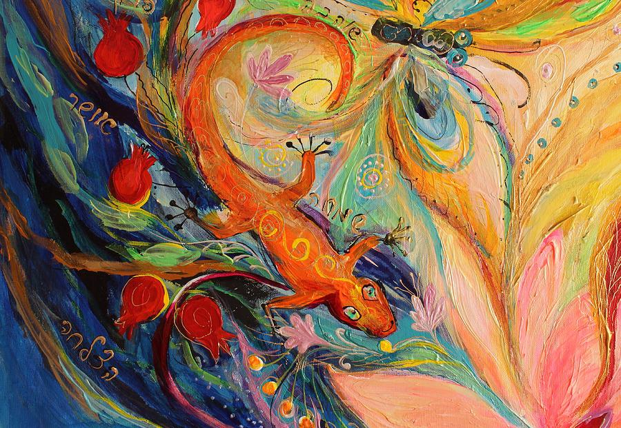 Jewish Art Prints Painting - Artwork Fragment 68 by Elena Kotliarker