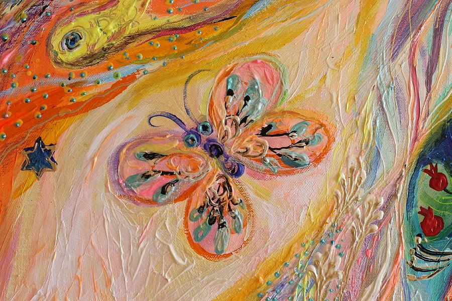 Evil Eye Painting - Artwork Fragment 84 by Elena Kotliarker