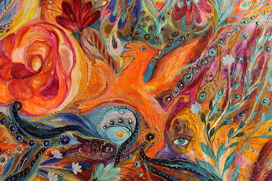 Jewish Art Prints Painting - Artwork Fragment 99 by Elena Kotliarker