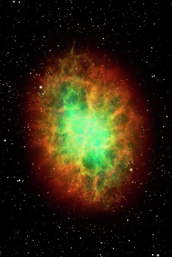 Artwork Of The Crab Nebula M1 Digital Art by Science Photo Library - Mark Garlick