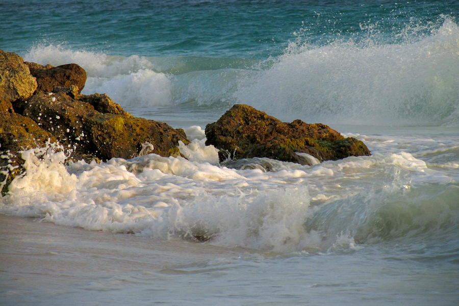 Ocean Photograph - Aruba Spray by Andrea Dale