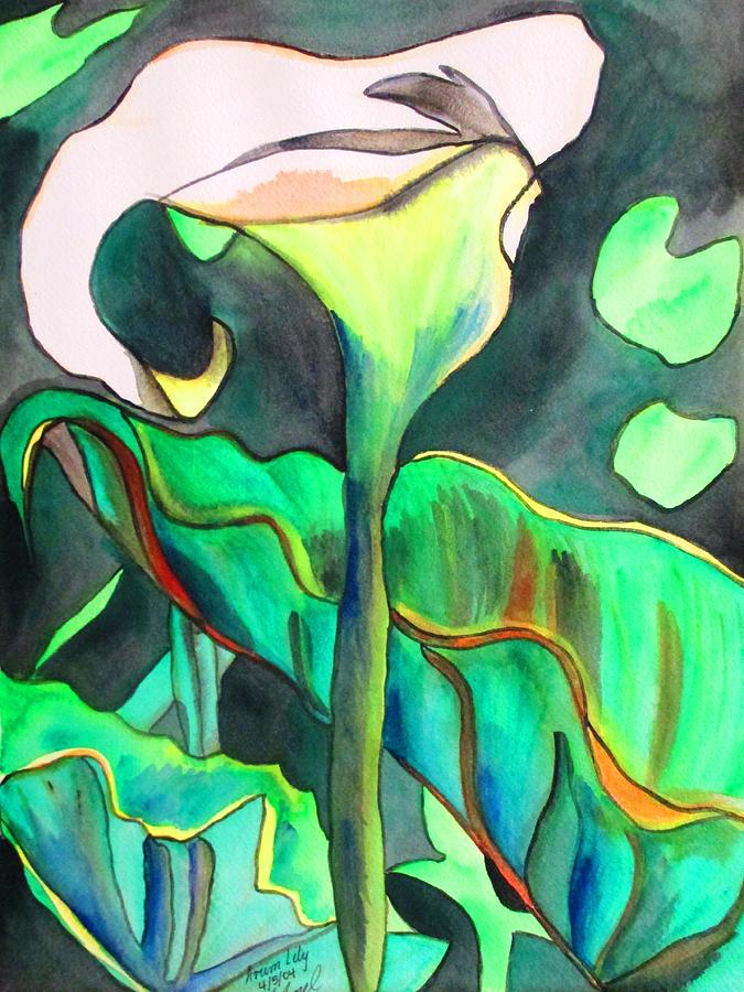 Arum Lily Painting - Arum Lily by Sacha Grossel