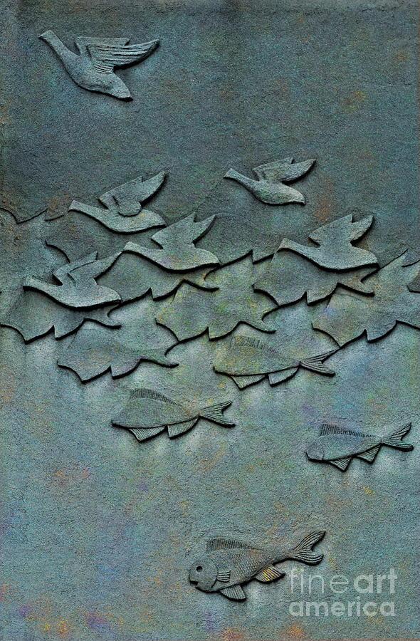 Birds Photograph - As Above So Below No. One by Andrea Kollo