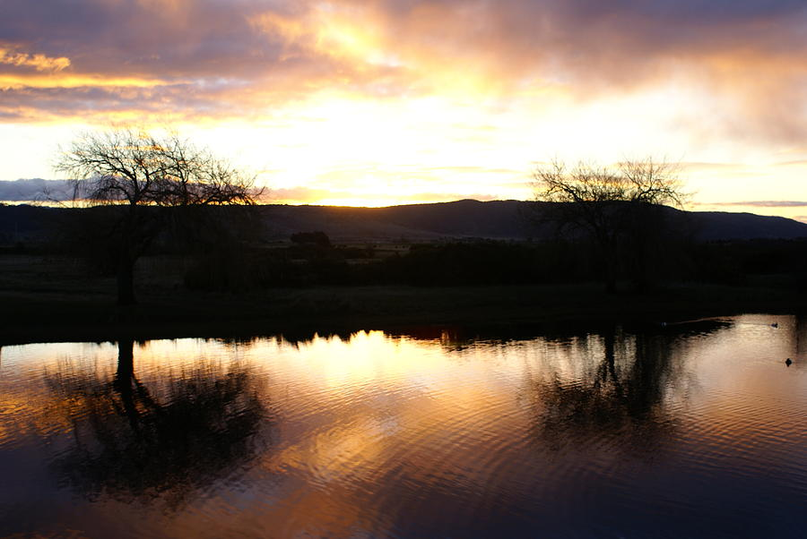 Sunset Photograph - As Day Meets Dusk by Judy Powell