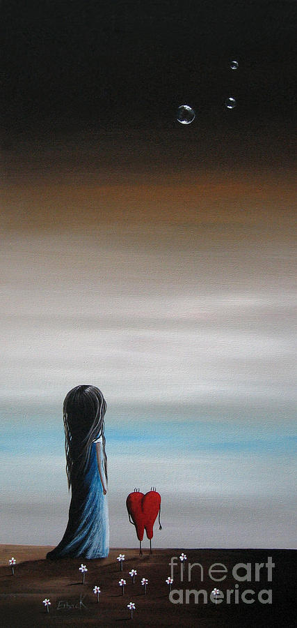 Minimal Painting - As Dreams Pass Her By By Shawna Erback by Shawna Erback