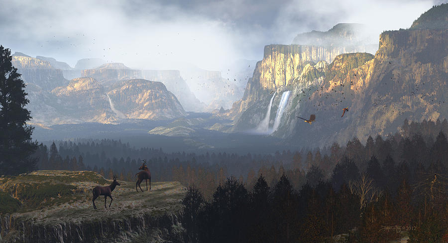 Yosemite Valley Digital Art - As It Was Meant To Be by Dieter Carlton