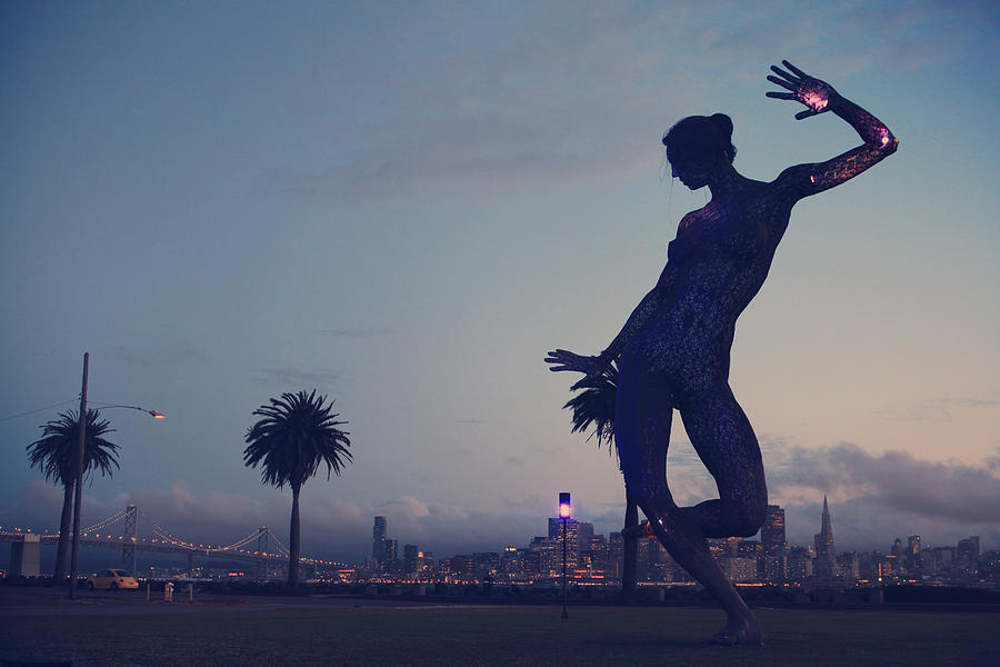 Bliss Dance Sculpture Photograph - As She Dances The Night Away by Laurie Search