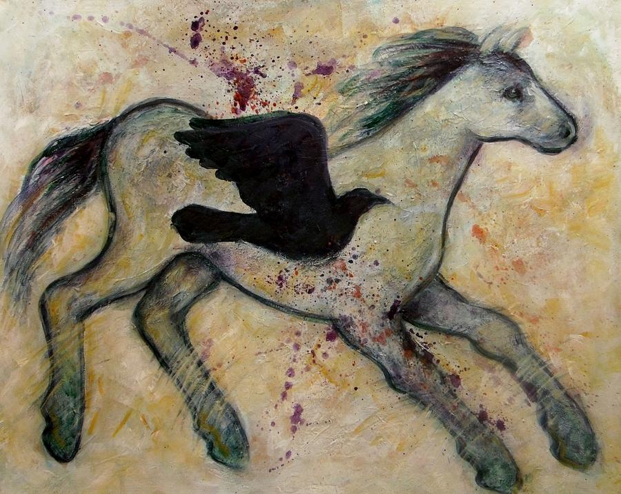 As The Crow Flies Impasto Horse Painting