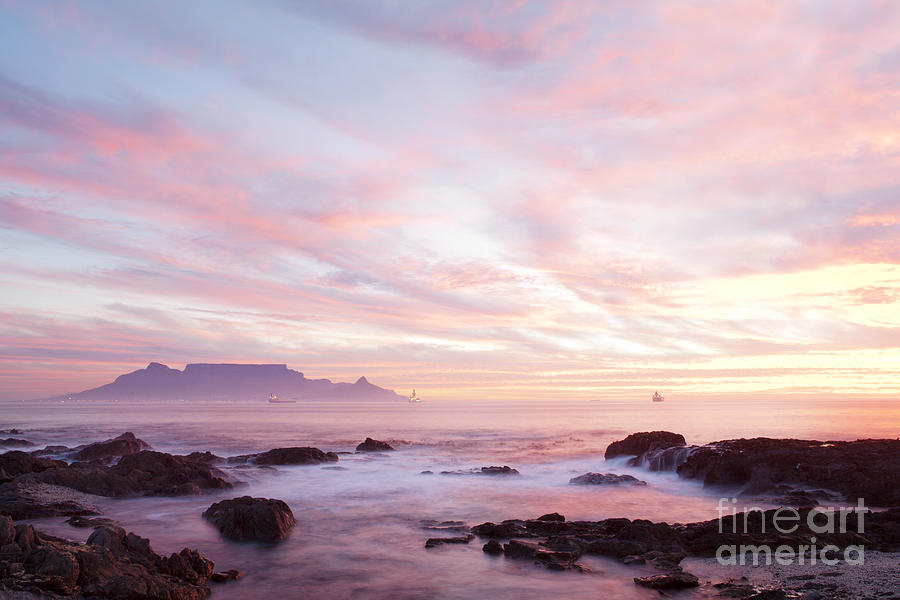 Cape Town Photograph - As the day ends by Neil Overy
