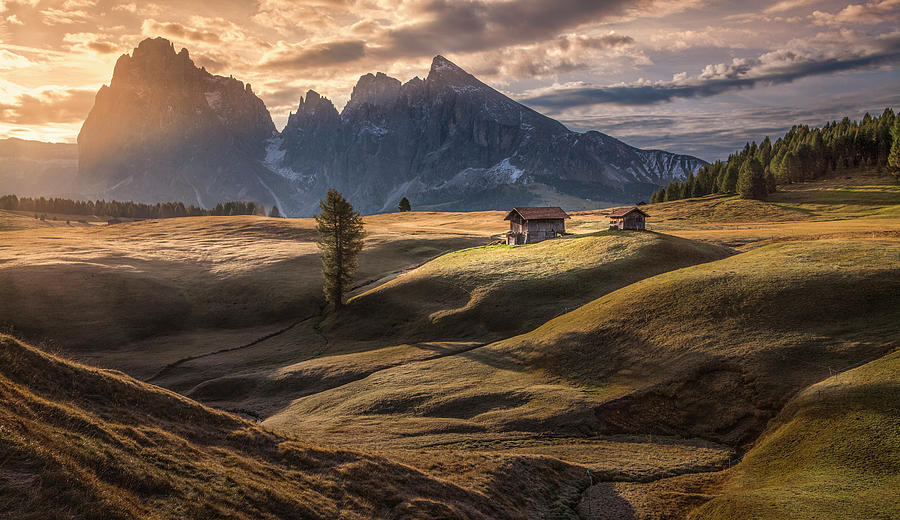 Landscape Photograph - As The First Rays Warm Up The Land by Peter Svoboda, Mqep