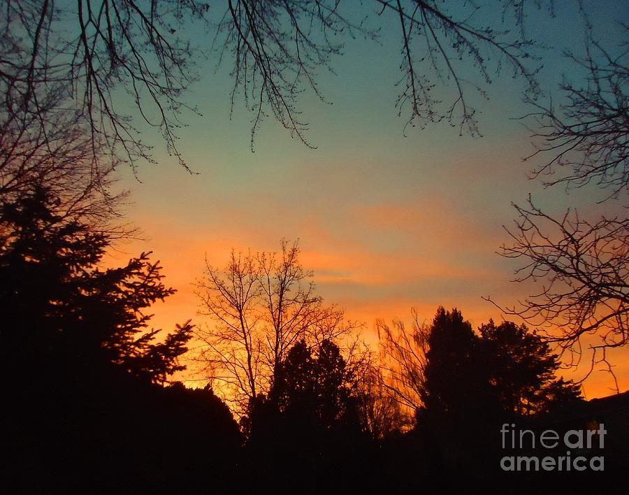 Sun Photograph - As The Sun Goes Down by Ann Johndro-Collins