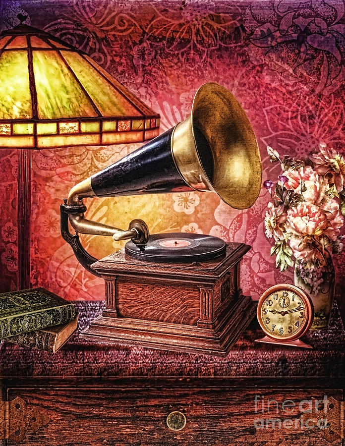 Gramophone Photograph - As Time Goes By by Mo T