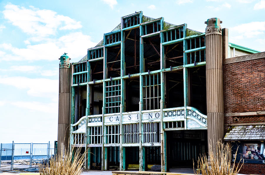 Asbury Photograph - Asbury Park Casino - My City In Ruins by Bill Cannon